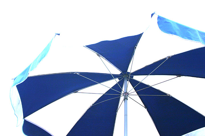 optical shower umbrella