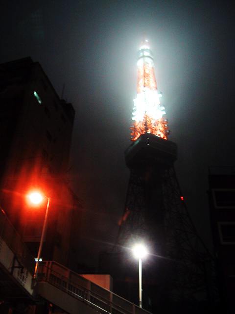misty light 'tokyo tower'